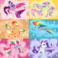 MLP RAINBOW POWER MINI-PRINTS by RomaniZ