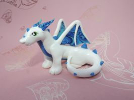 Blue Marbled Dragon by KuddlyKreatures