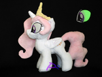 Filly Celestia V6 Glow-In-The-Dark by kiashone