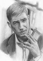 Tom Hardy Sketch by NicksPencil
