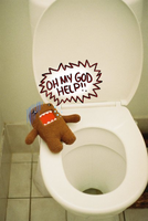 Domo-kun Doesnt Like Toilets by Lozzaloz