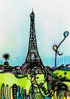 tour eiffel 10x15 color 1 by AUDREYASTORG