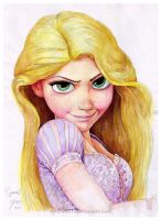 Rapunzel 4 Disney Tangled by B-AGT