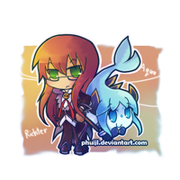 Chibi Richter and Aqua by PhuiJL