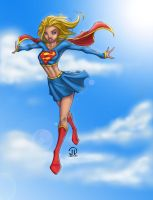 Super Girl in flight colors by JoeyVazquez