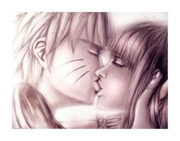 NaruHina Kiss by Bandico