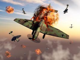 WW2 German Stuka Dive Bombers. by MasPix