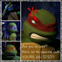 TMNT:: Raph: You're an idiot by Culinary-Alchemist