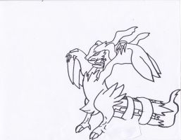 Reshiram by bloodfeather9875