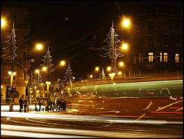Rush night in Budapest by Csipesz
