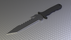 Knoble's Combat Knife (Stream Speed Model) by doug7070