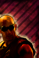 riddick red poster by hfa18