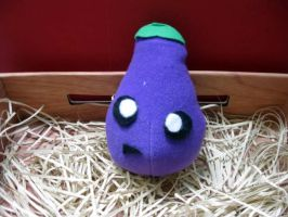 Confused Eggplant Plush by PaperCadence