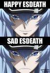 The faces of Esdeath/Esdese by caffeinatedalchemist