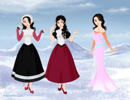 True Princesses Raye's outfits by StarQueen22