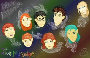 Next Mauraders With Patronuses by SpatialHeather