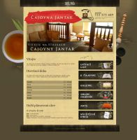 Teahouse Jantar Web Design by Martioon