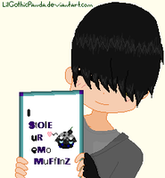He Stole your emo muffinz o: by LilGothicPanda