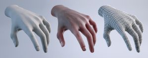 Hand Study by d3m0ni0