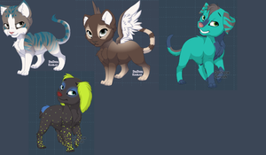 Free adoptables~ by Ravenmist4