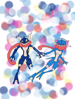 Greninja and Grenichi by TMNTShoujo