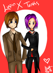 Gift/V-day Picture ~ Lupin X Tonks by PixelatedFairy