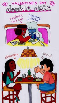 Valentine's double date with Gems by swankivy