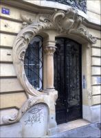Art Nouveau Door 3 by bakenekogirl