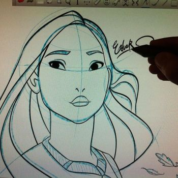 Pocahontas Sketch by EduardoSQ