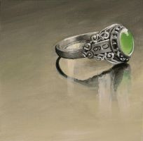 Tiny Painting 1: Class Ring by friendlyearthworm