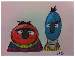 Burt and Ernie? by grizlyjerr