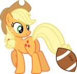 Applejack the hoofball girl by porygon2z