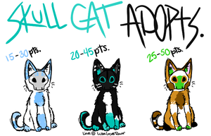 Skull Cats CLOSED by TheAdoptShop