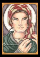 Saint Bernadette of Lordes by natamon