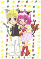 Chibi Ryou and Ichigo by Tamao