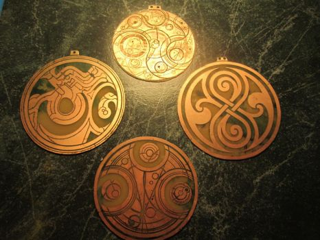 Time Lord Medallions by NBitWonder