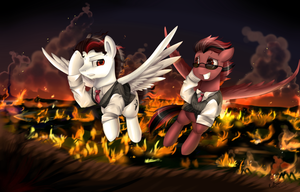 Comm: Not burning all Ponyville by pridark