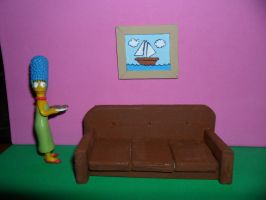 The Simpsons Furniture: The Couch 2nd attempt by kayanah