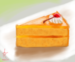 Orange Cake by CelestialRainfall