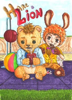 Hare and Lion by Kabunabuko23