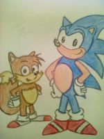 Sonic and Tails aosth by babirox753