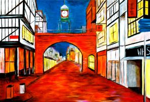 Eastgate Street, Chester - Oil Painting by CharltonArt