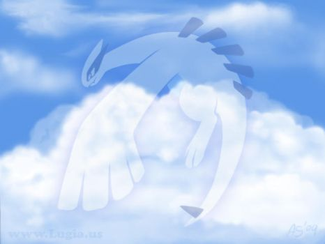 Clouds and Lugia by Articuno