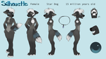 Silhouette Anthro Reference by tuliplou