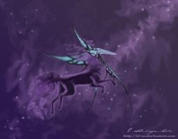 Ilmara in the space by Ricchin