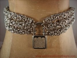 Three Strand Byzantine BDSM Slave Collar by aislinnmarie