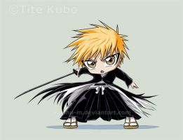 BLEACH - Chibi ICHIGO Color by Washu-M