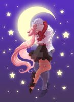 SM: Helios X ChibiUsa by Roots-Love
