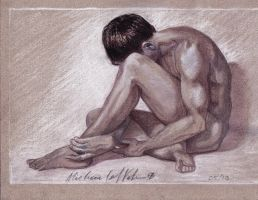 Male Charcoal Study 1 by spike21mn