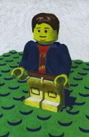 Lego Minifig Self Portrait by JustMarDesign
